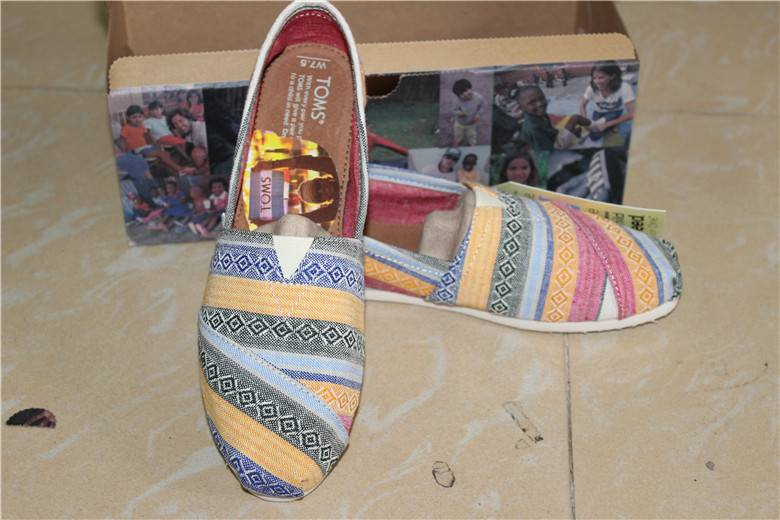 New Toms Multi Nepal Weave Canvas Shoes