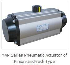 Valve Pneumatic Actuator of Pinion-and-rack Type