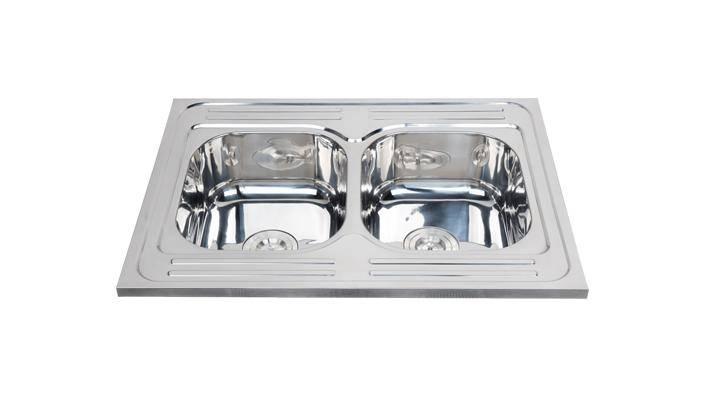 Foshan supplier modern double kitchen sink for sale WY-8060D