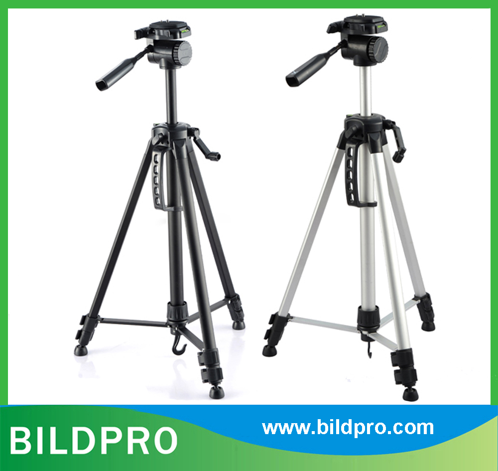 BILDPRO 57inch Compact Tripod Pan Fluid Head Digital Video Camera Stand