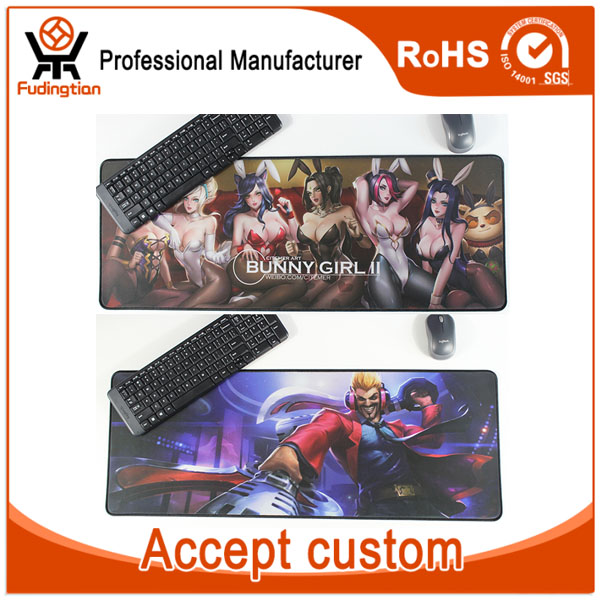 FDT Custom Full CMYK Printing XXL Large Computer Rubber Game Mouse Pad