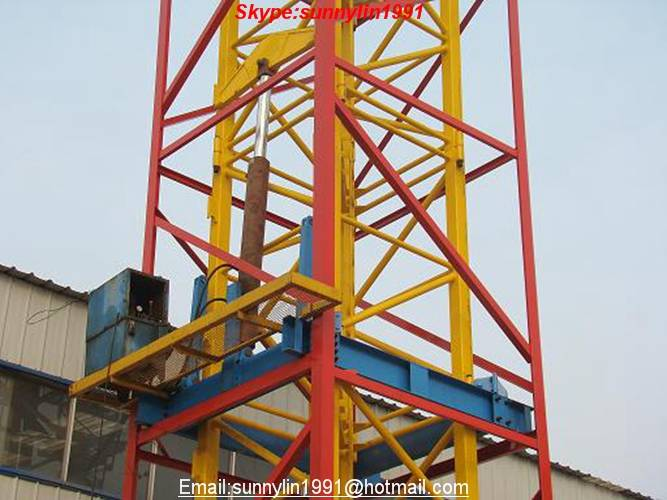telescopic cage for tower crane telescopic system