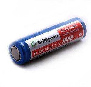 Brillipower IMR18650 1600mAh Li-Mn Rechargeable Batteries