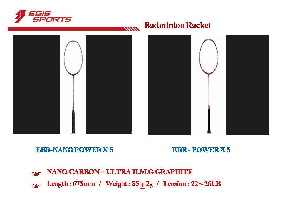 NANO Carbon Ultra H.M.G Graphite Badminton Rackets