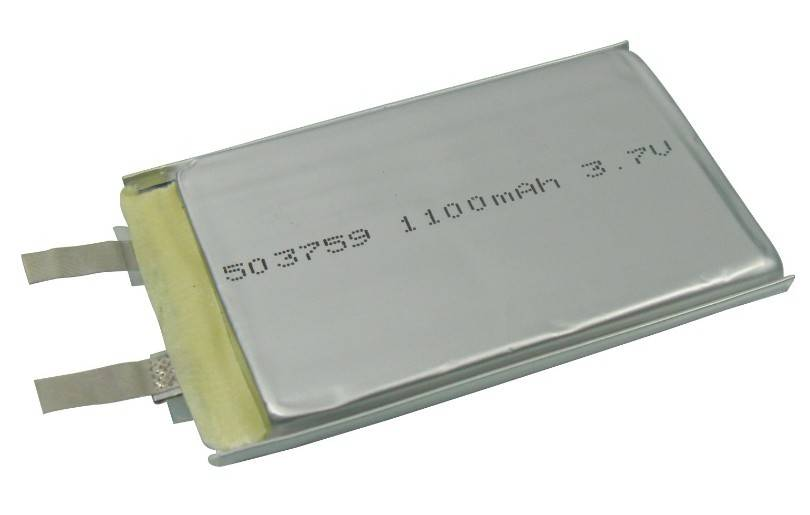 lithium polymer battery 503759 with 1100mAh capacity