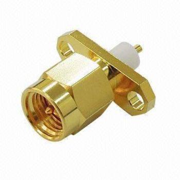 SMA1250-50 SMA Connector Plug for 2 Holes Panel Receptacle