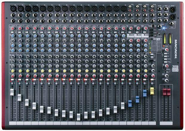 12/22 channel audio mixer ZED12FX