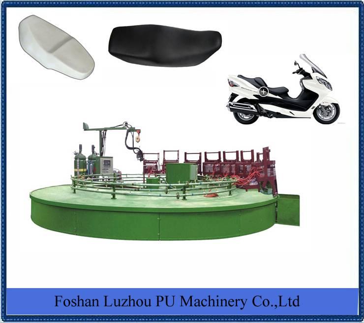 Motorcycle seats foam machine
