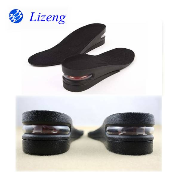 Two layer PU air cushion height insoles with high quality