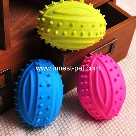 Blue Pet Dog Toy Bouncy Hollow Ball for Pet Biting Training Toy