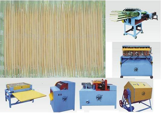 wood bamboo toothpick making packing machine manufacturing plant
