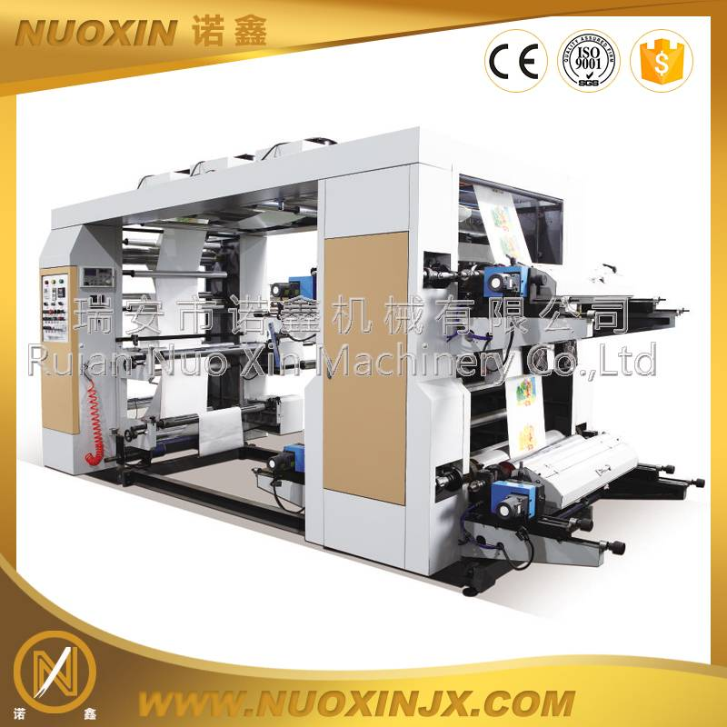 4 color non woven material flexographic printing machine