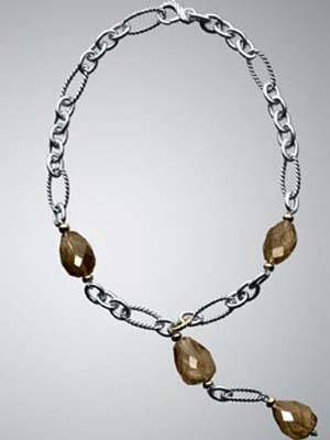 Smoky Quartz Y Necklace