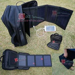 Portable solar charger bag for car tools smartphone tablet PC