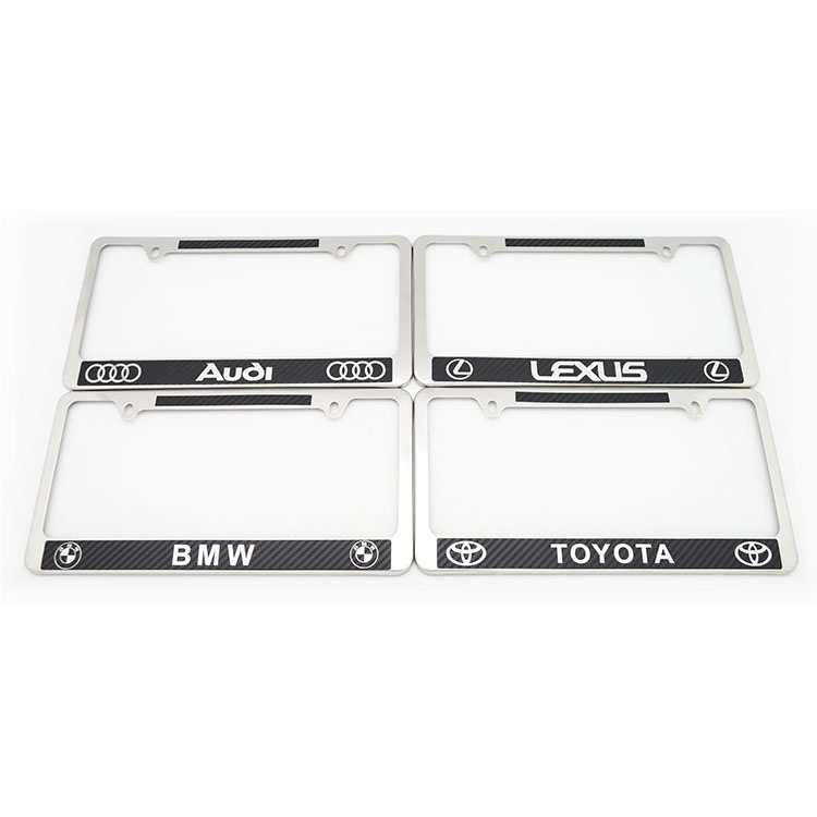 American stainless steel carbon fiber license plate frame American car license plate frame