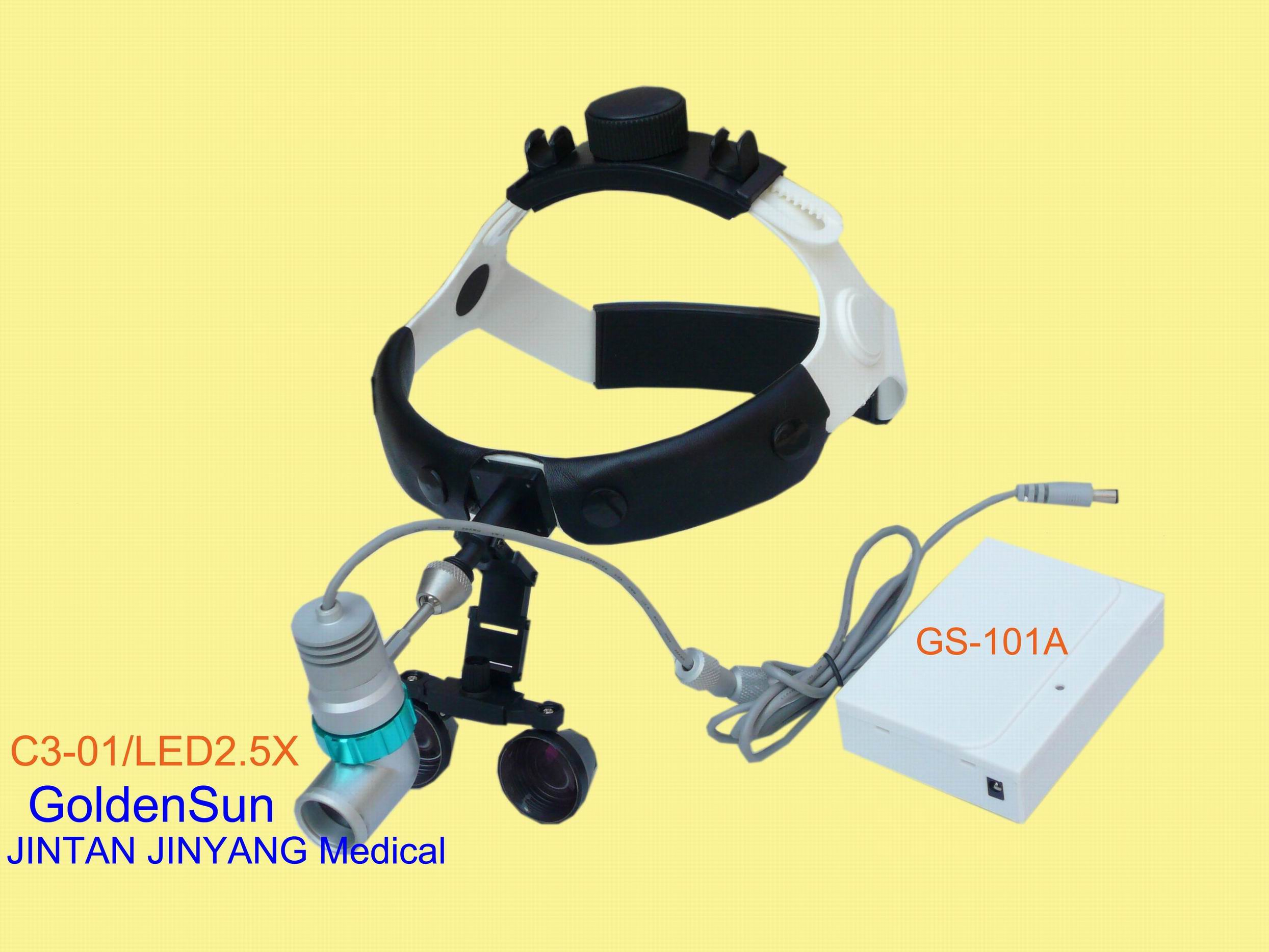 Rechargeable medical surgical dental led headlight loupes