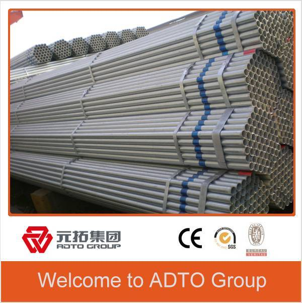 BS1139 Hot dipped galvanized pipes black 48.3x4.0mm for tublar clamps scaffolding system