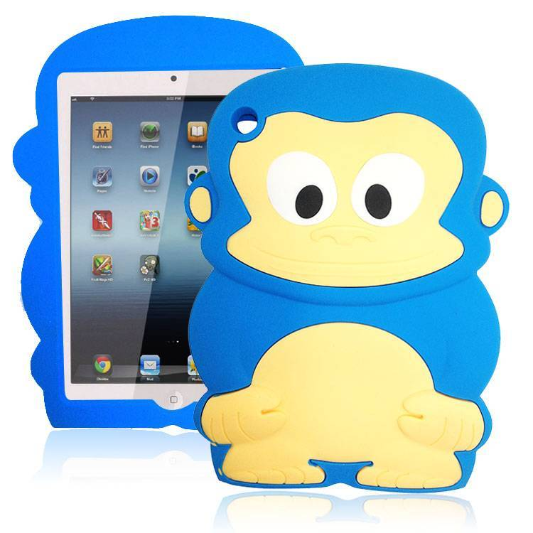 Factory Wholesale 3D Monkey King Silicone Ipad MIni Case