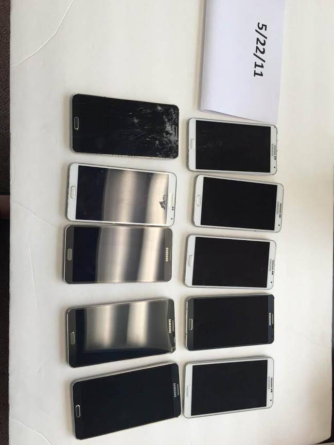SAMSUNG NOTE 3 BAD LCD S4 BAD IME NUMBERS