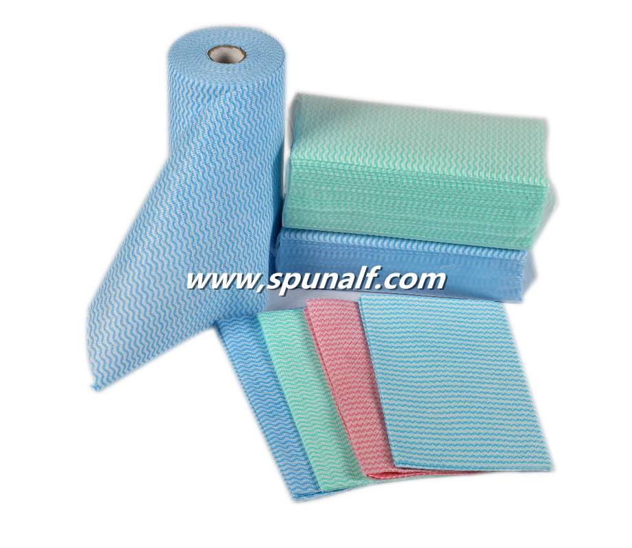 Stain Remover Spunlace Nonwoven Fabric For cleaning Wipes
