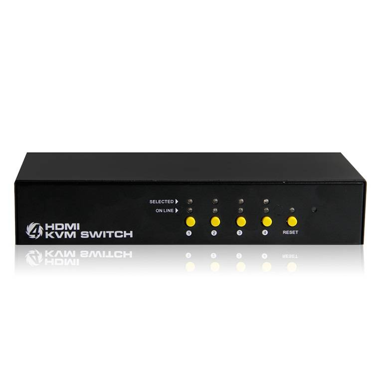 New high quality USB HDMI KVM switch 4port support USB 2.0 HDMI interface