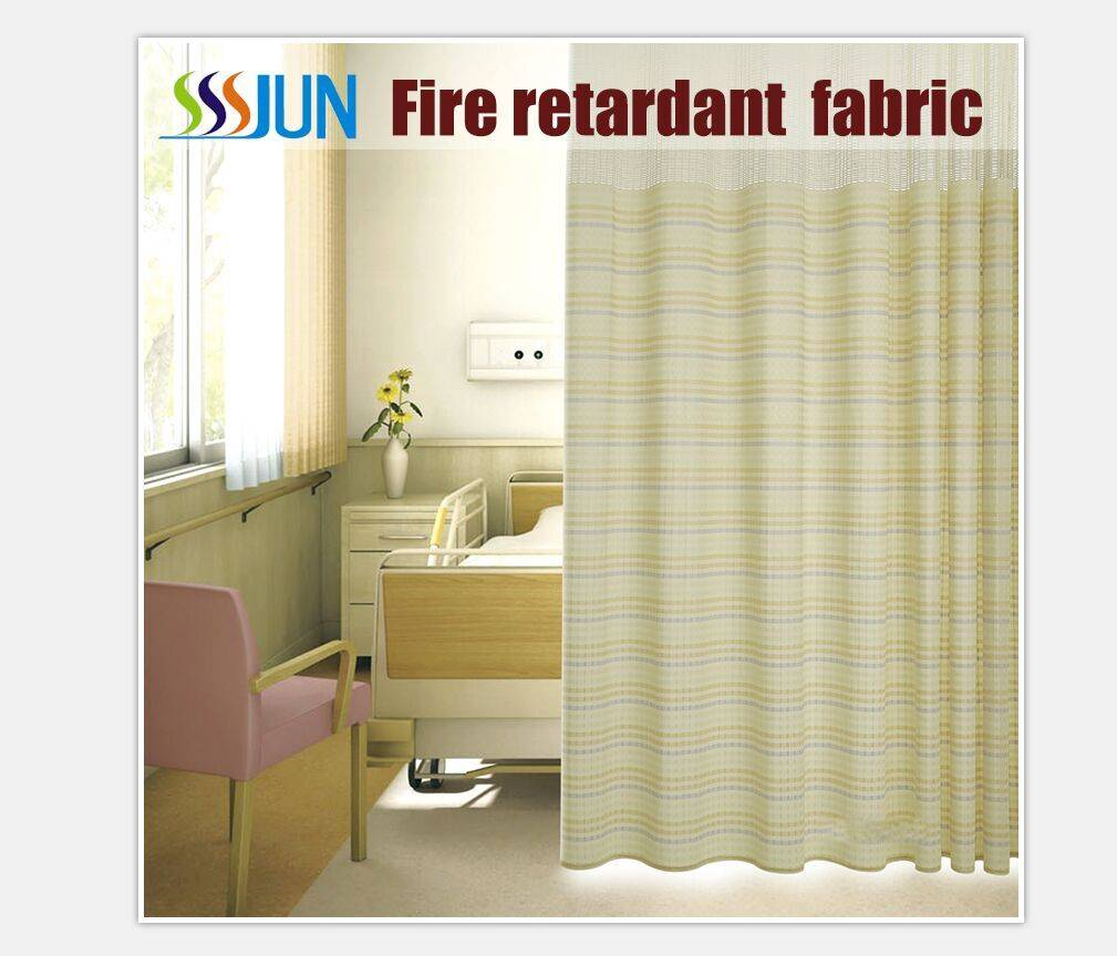 High-grade beautiful Medical partition curtain Flame retardant curtain fabric
