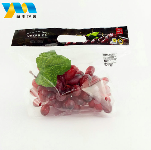 Custom size food grade recycled opp plastic packaging bag for fruit