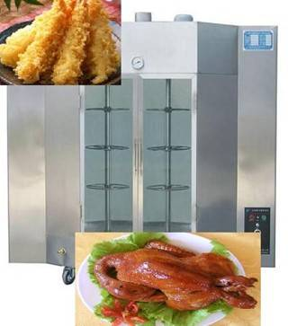 Gas rotating poultry meat roasting machine