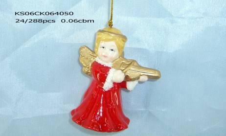 Ceramic angel hanging decor