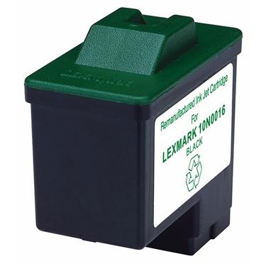 Remanufactured Black Inkjet Cartridge for LEXMARK 10N0016