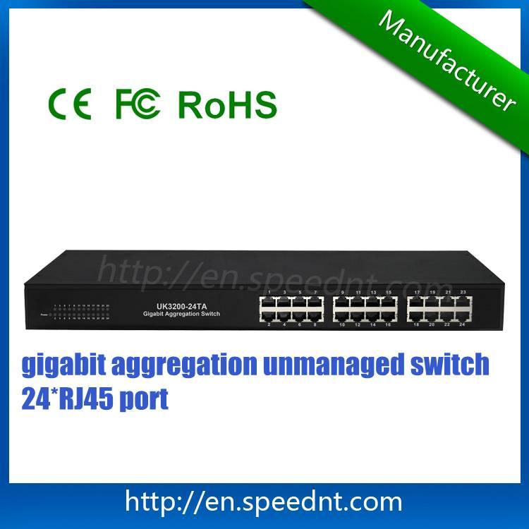 24-port Gigabit Aggregation Switch UK3200-24TA non-blocking network switch in stock