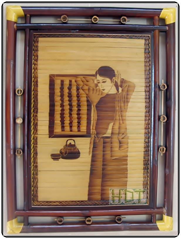 Shaving Smoked Bamboo Painting Portraits (The Girl in the Window Artwork)_ This Is Not Painted