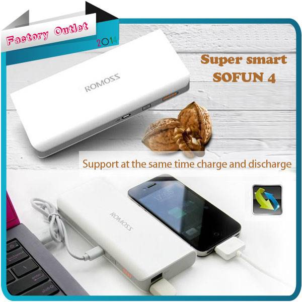 Hot Sell 13000mAh Romoss Power Bank Smart Phones Emergency Portable external battery charger