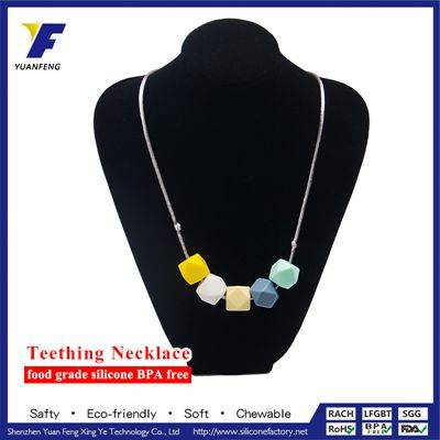 New Product 2016 Silicone Beads Jewelry Set Baby Teething Necklace Wholesale