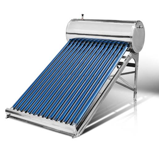 Low pressure solar water heater