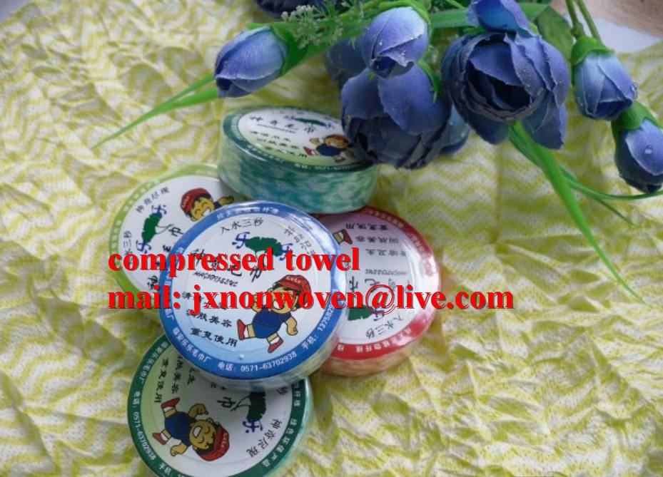 embroidery logo compressed towel