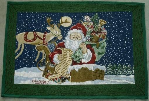 tapestry doormat, christmas doormat, jacquard rugs