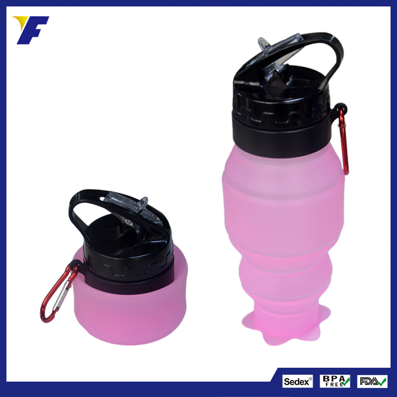 Personalized Foldable Food Grade Silicone Water Bottles for Kids