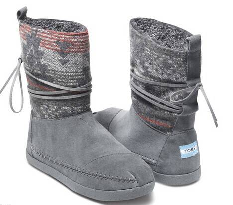 Toms Grey Suede Womens Nepal Boots