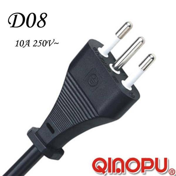 Italy Three Wire Power Cord (D08)