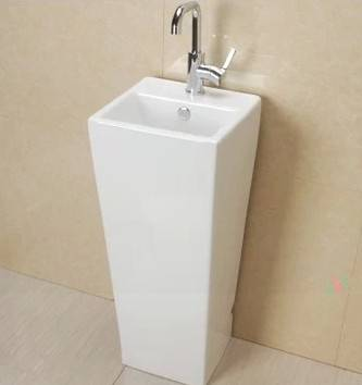 Elegant design bathroom pedestal sink storage