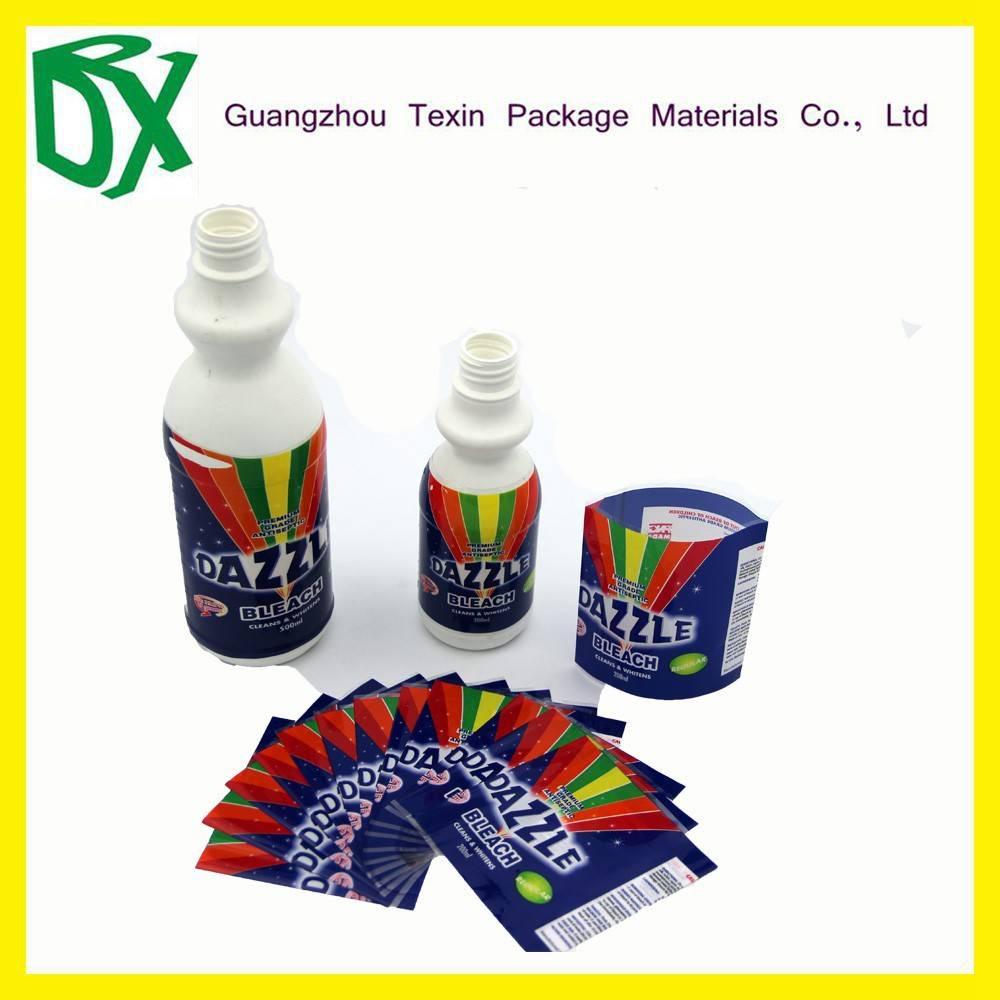 Hot sale heat sensitive water proof pvc shrink film label for bottle
