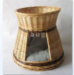 Pet basket with cushion