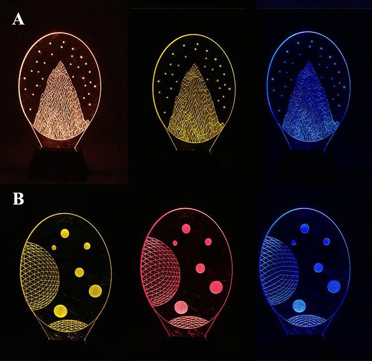 Hot Amazing 3D Illusion Bulb Lamp LED Night Light Table Desk Lamp Decoration Creative Gift for Kids
