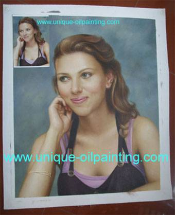 portrait oil painting from photo