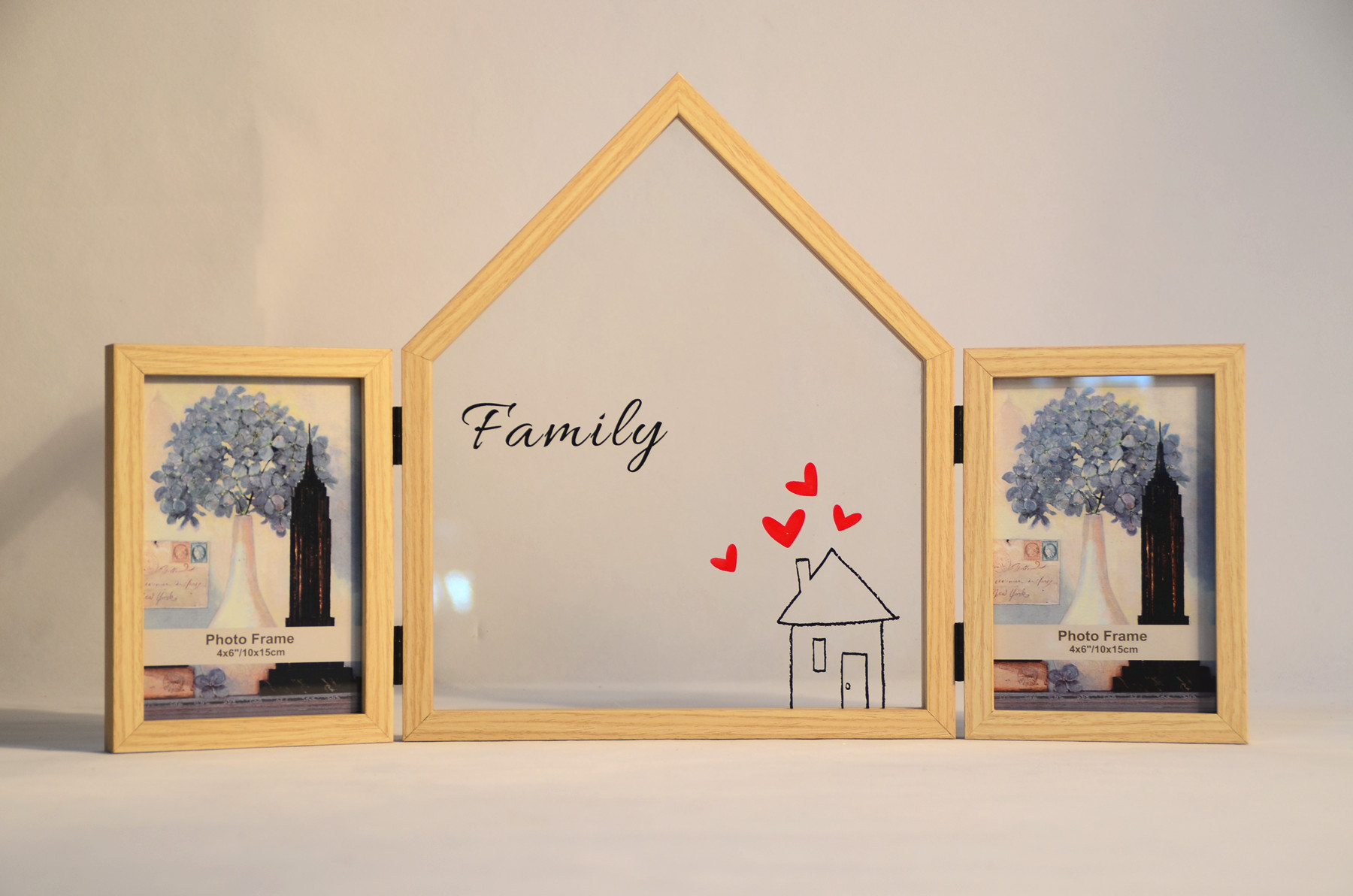 new folded display photo frame, for tabletop and wall decotative