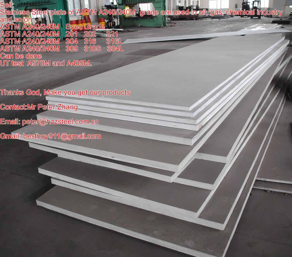 Sell :Spec A240/A240M Spec Stainless steel plate,Grade,201,202,304,316,316L,321,310S,309/ Spec/sheet