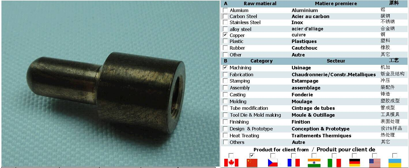 Custom machining parts surface boiled black