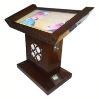D32 Floor standing hall type all in one LCD advertisement player with touchsceen(2 points multitouch