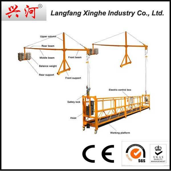 Hot selling ZLP630 Suspended platform for construction cleaning/decrative/build